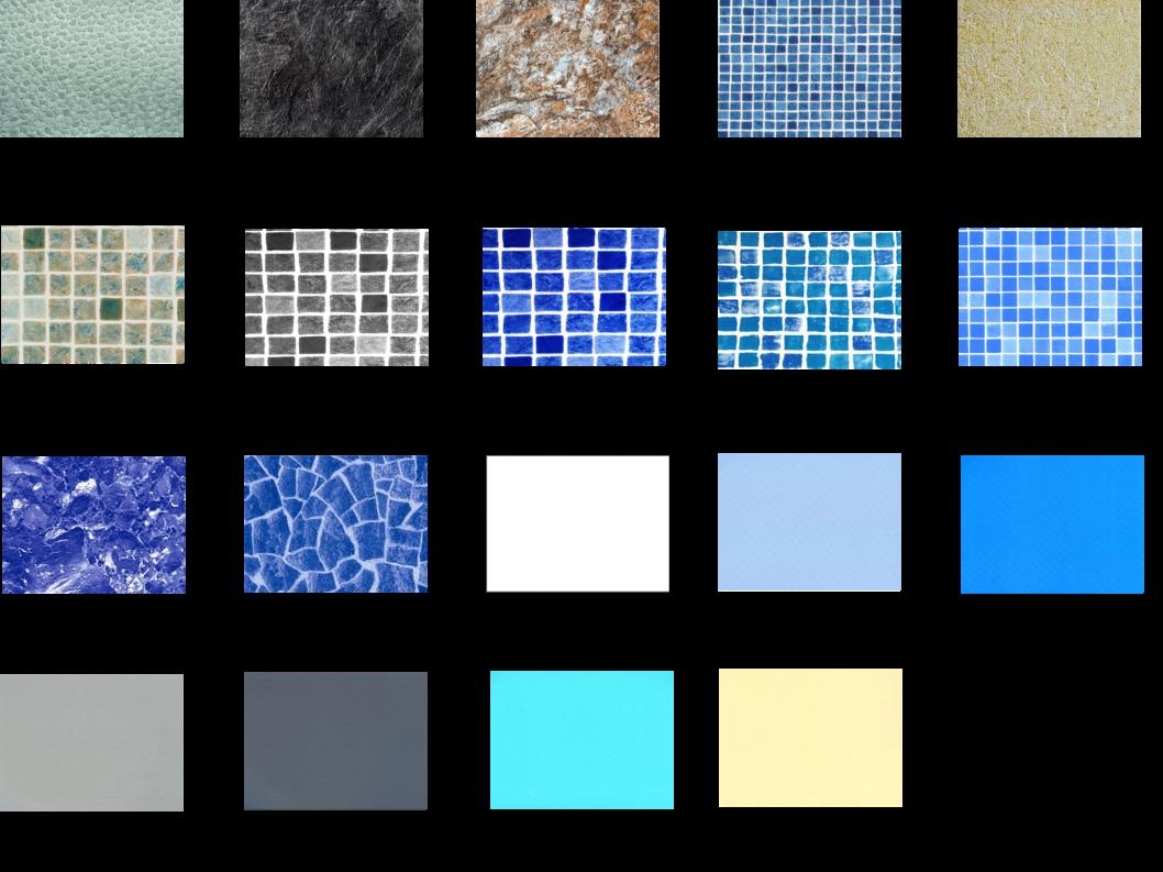 Palette chromatique membrane piscine